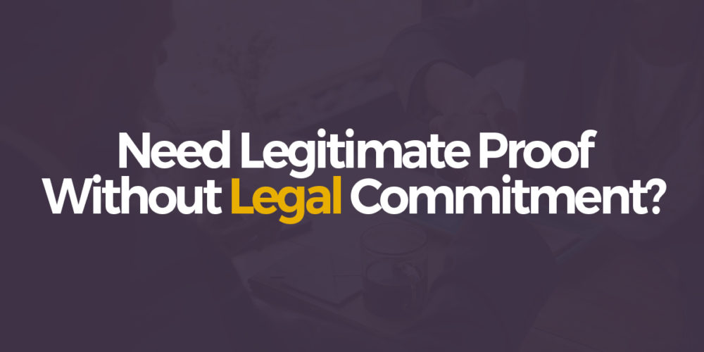 Need legitimate proof without out legal commitment? Memorandum of understanding